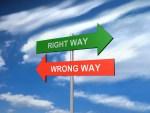 Tâm đặt sai hướng và tâm đặt đúng hướng